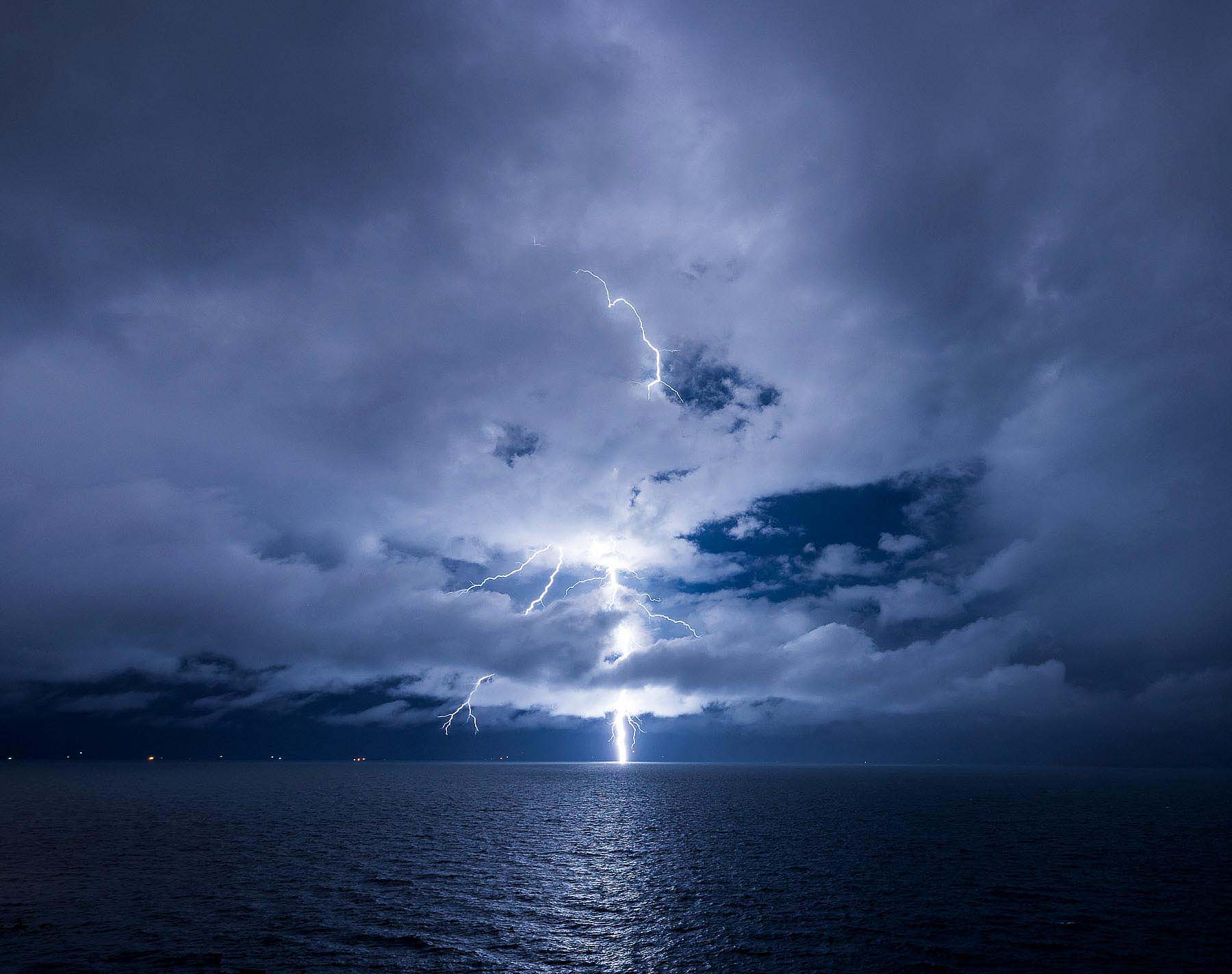 Lightening-Storm-Bolt-Night-Lake-Titicaca-Bolivia-Travel