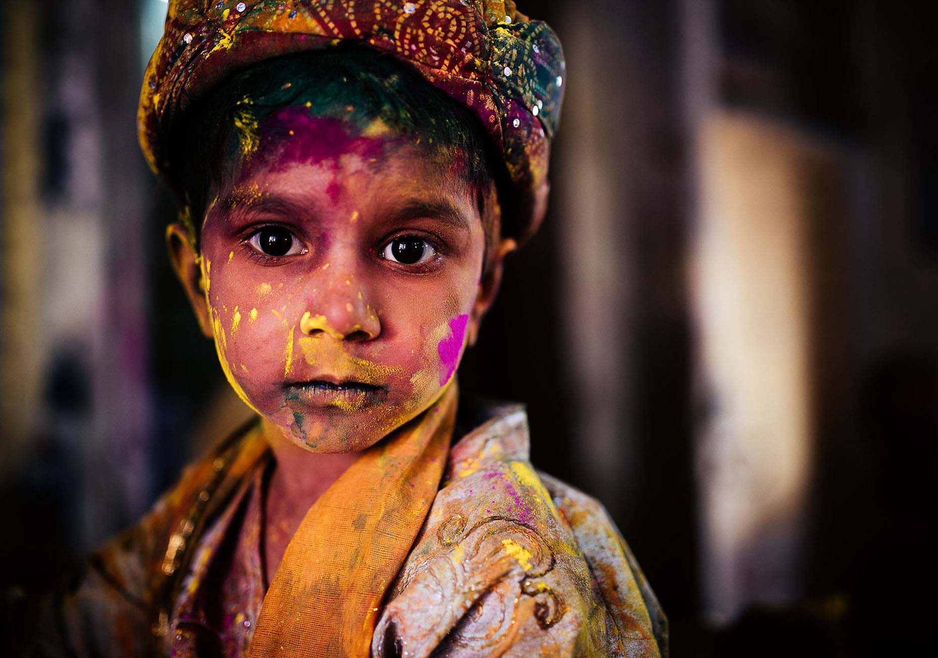 Portrait-Indian-Boy-Holi-Uttar-Pradesh-Paint