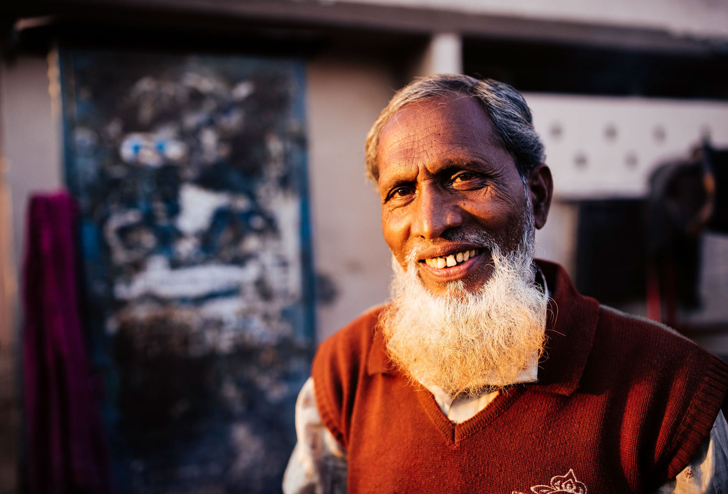 man-beard-smile-portrait-mathura-uttar-pradesh-india